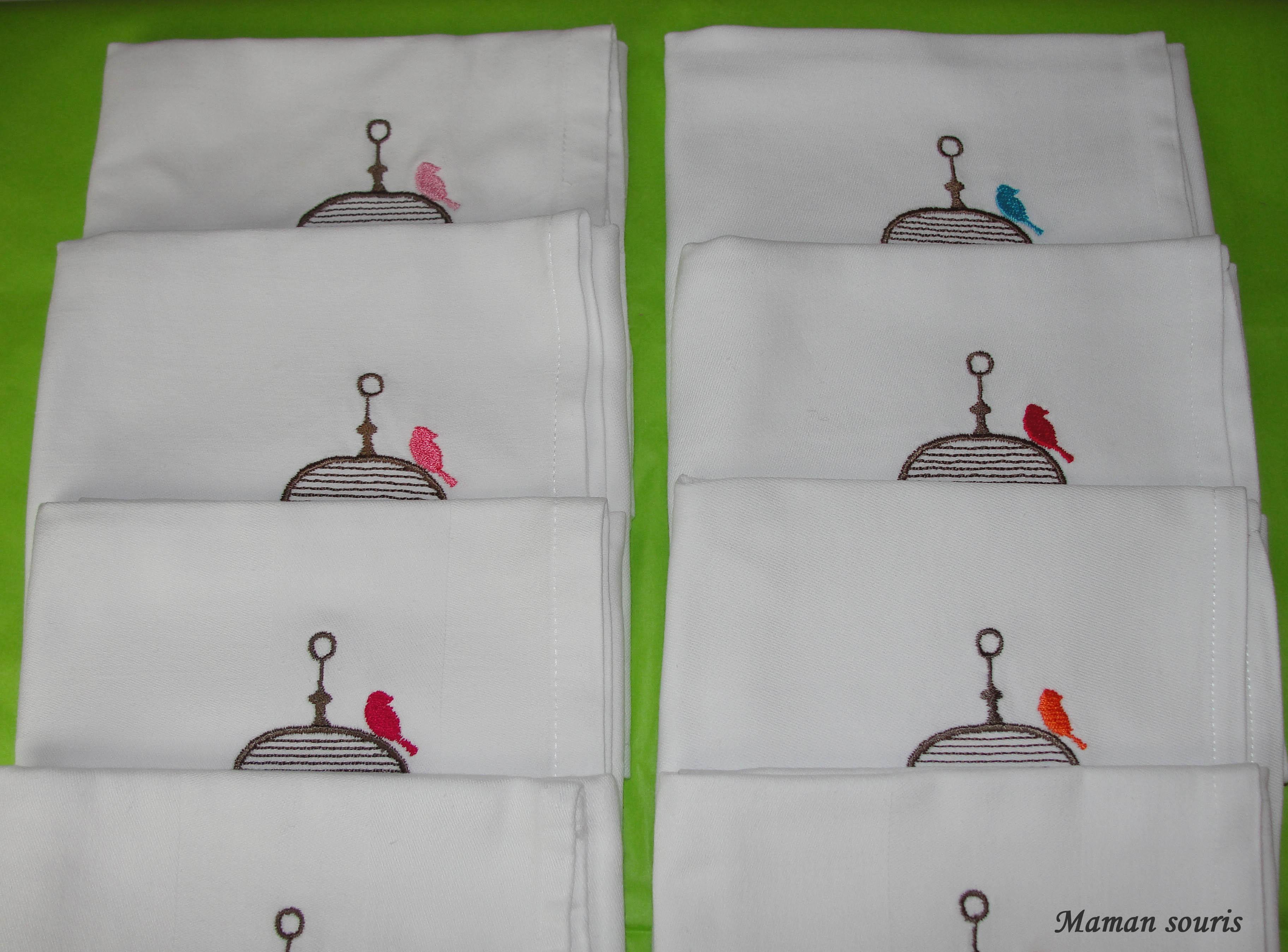 Les serviettes de table maman souris - La cocotte a carreaux ...